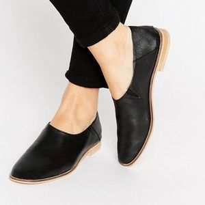 ASOS MARRAKECH Leather Flat Shoes sz 8 worn once